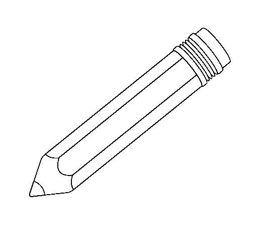 Pencil II coloring page Coloringcrewcom