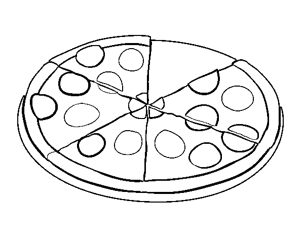 Pizza Roll Coloring Page