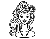 Pin-up hairstyle  coloring page