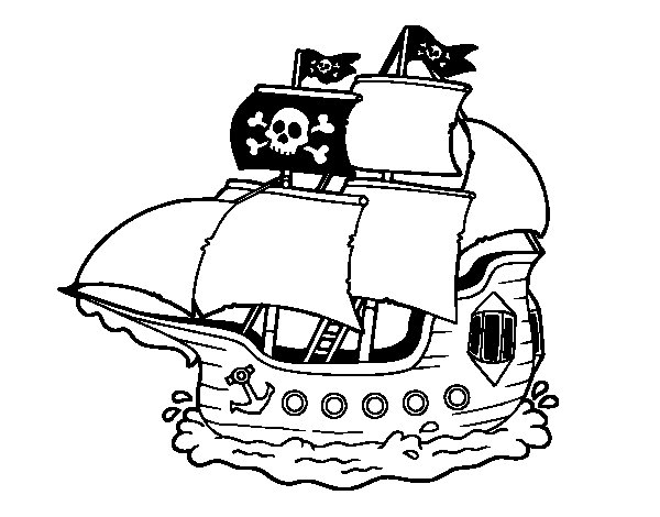 Pirate Ship Coloring Page Coloringcrew Com Pirate Ship Coloring Page
