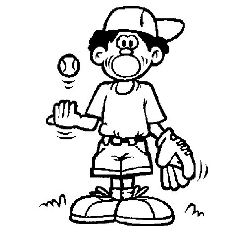 Pitcher coloring page