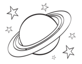 Planetary ring coloring page