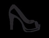 Platform shoe coloring page