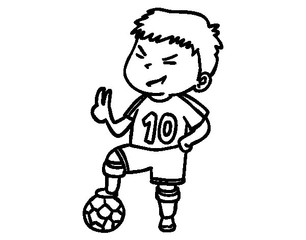 Player number 10 coloring page