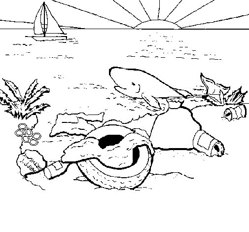 Polluted Earth coloring page