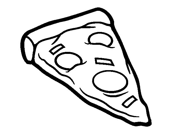 Portion pizza coloring page