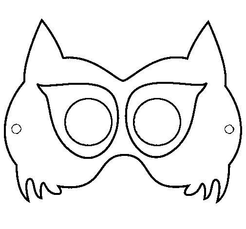 Raccoon mask coloring page - Coloringcrew.com Raccoon Face Coloring Pages