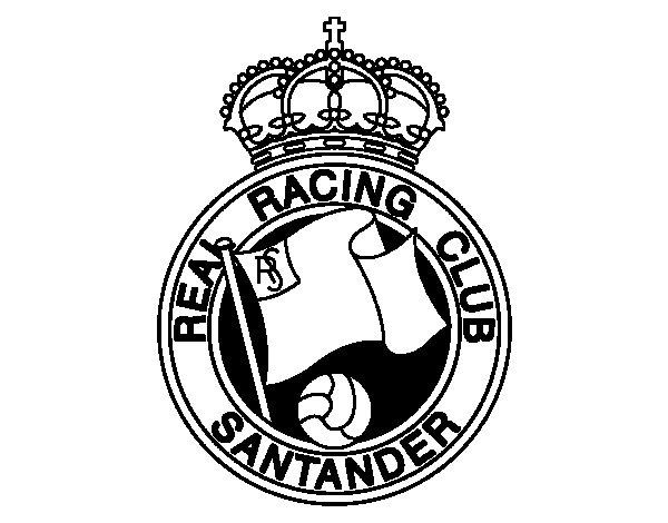 Racing de Santander crest coloring page