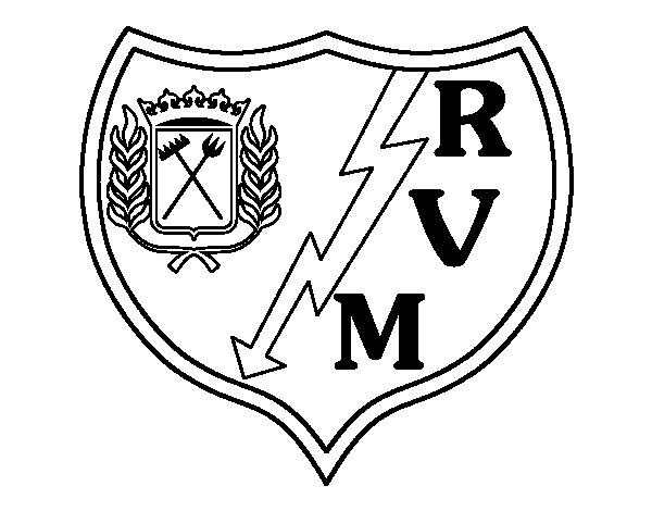 Rayo Vallecano crest coloring page