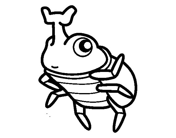 Rhinoceros beetles coloring page