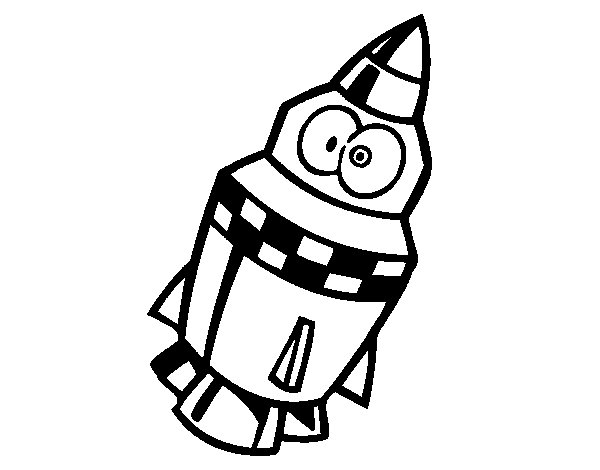 Rocket with eyes coloring page Coloringcrewcom