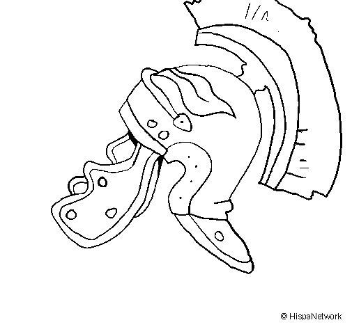 Roman helmet II coloring page