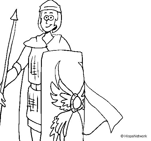 Roman soldier II coloring page