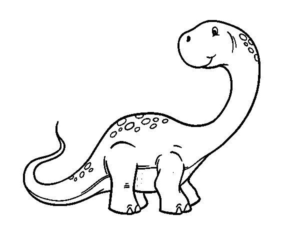 Sauropod dinosaur coloring page
