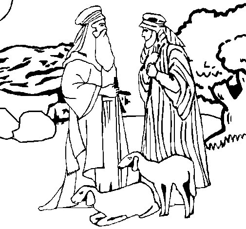 Shepherds coloring page