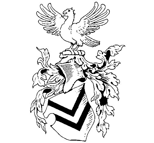 Shield with weapons and eagle  coloring page