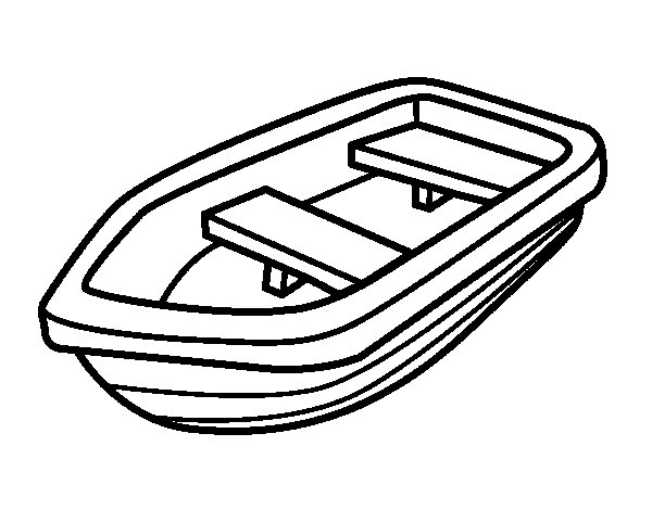 Small boat coloring page