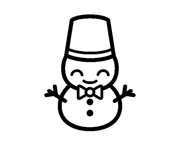 Snowman 5 coloring page