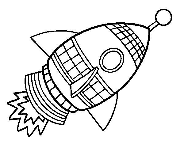 space rocket coloring page - Rocket Coloring Page