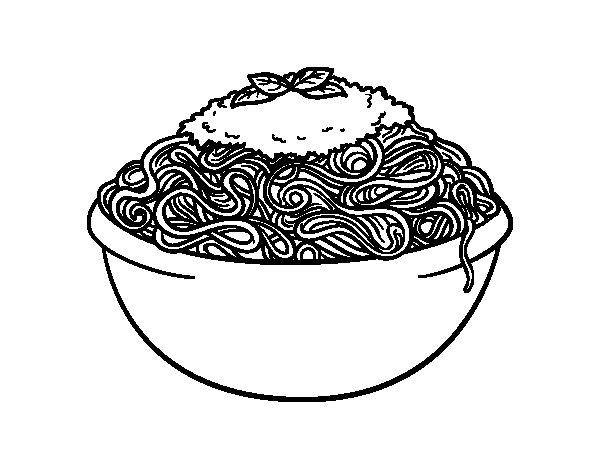 Spaghetti coloring page