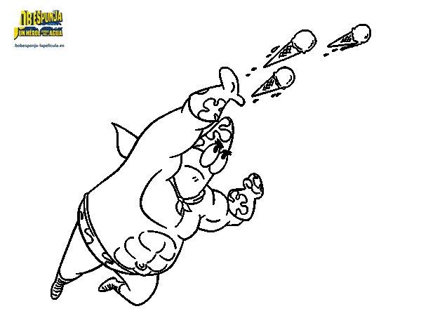 SpongeBob - Superawesomeness shootting coloring page