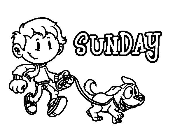 Sunday coloring page