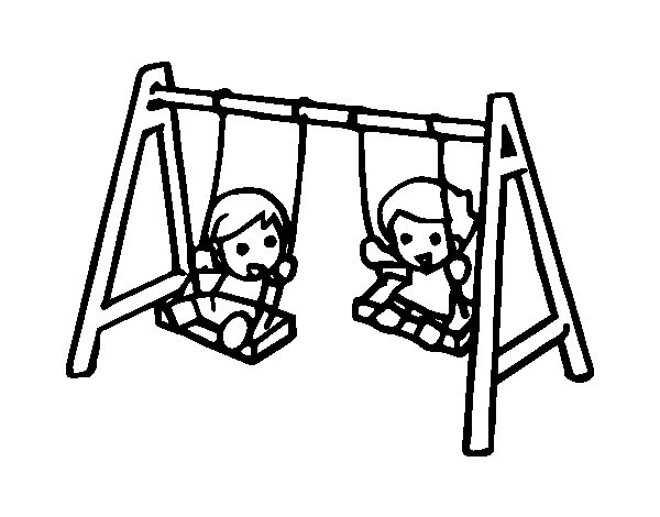 swing coloring page coloringcrewcom