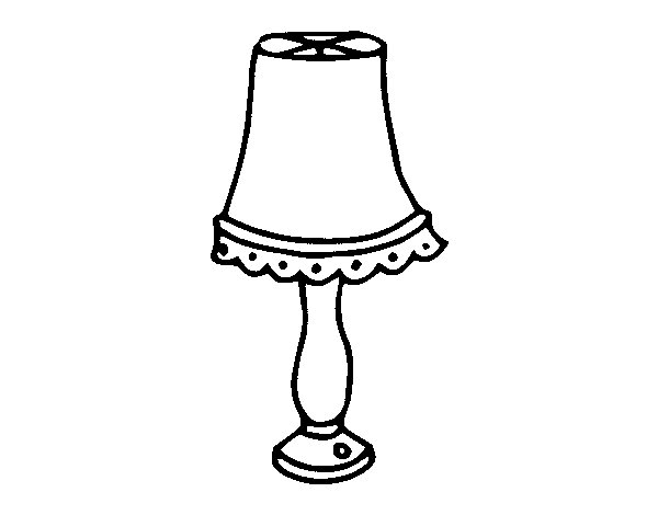 table lamp coloring page