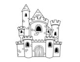 Tale castle coloring page