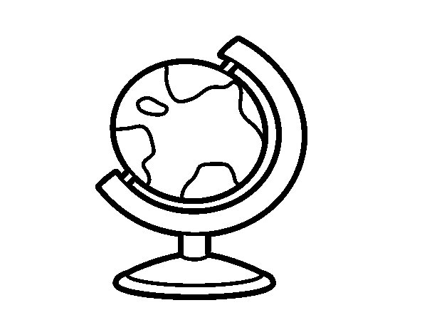 Terrestrial Globe Coloring Page