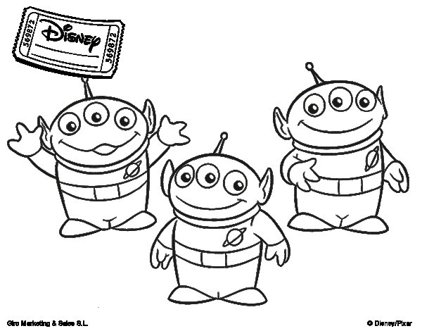 The Aliens coloring page