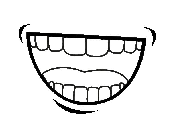The Mouth Coloring Page