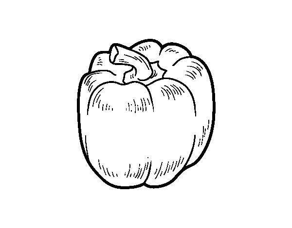 The red pepper coloring page