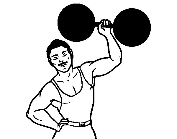 The Strongman coloring page