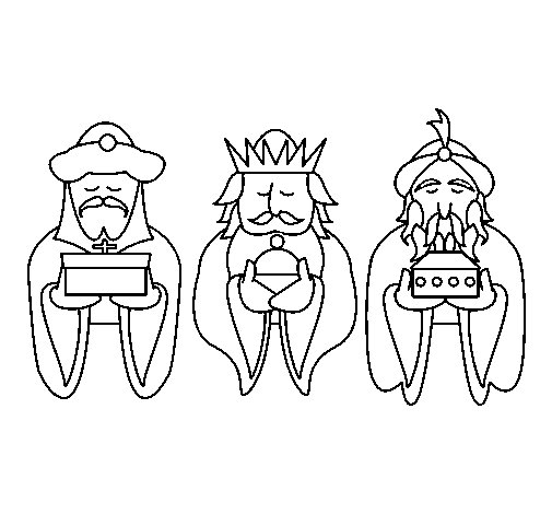 The Three Wise Men 4 coloring page