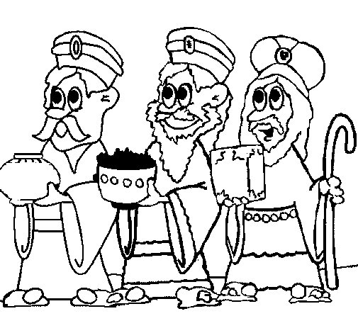 The Three Wise Men coloring page
