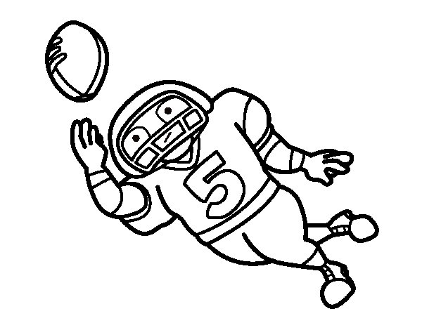 Tight end coloring page