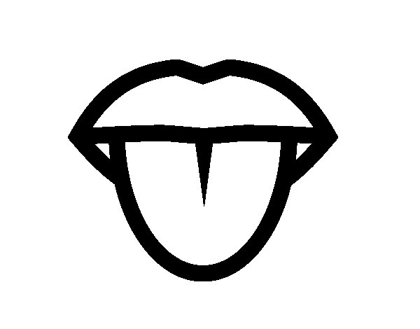 tongue coloring page coloringcrewcom