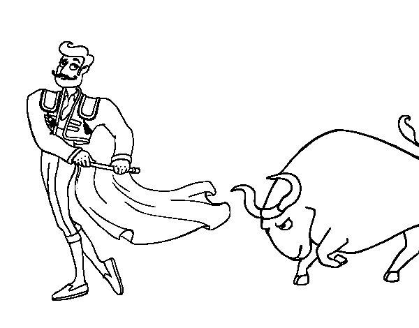 Torero coloring page