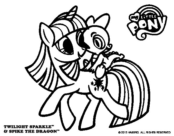 Twilight Sparkle coloring page Coloringcrewcom