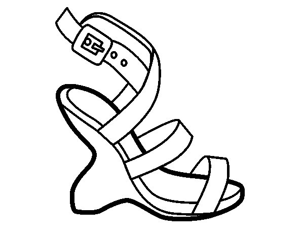 Uncovered heel design coloring page