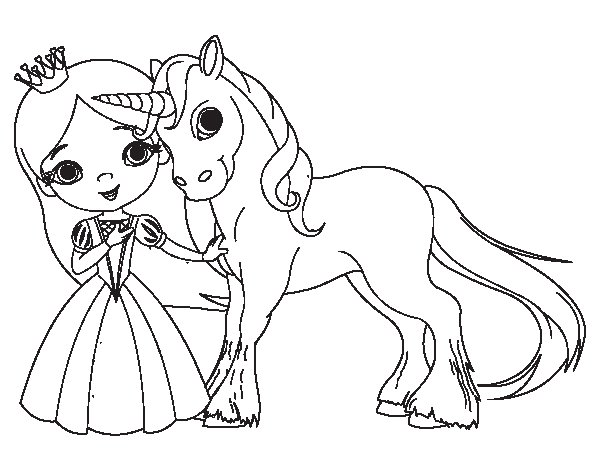 Unicorn And Princess Coloring Page Coloringcrew Com Princess Unicorn Coloring Pages Free Coloring Sheets