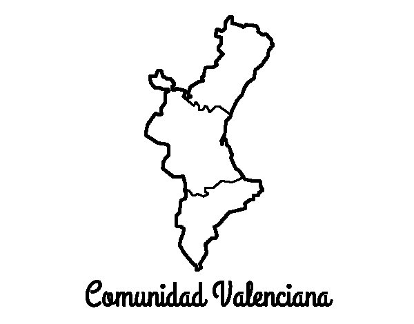 Valencian Community coloring page