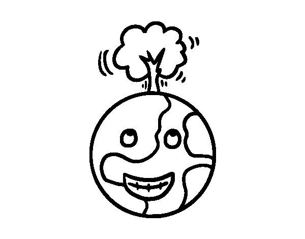 Vegetable Planet coloring page