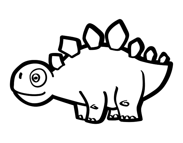 Young Stegosaurus coloring page Coloringcrewcom