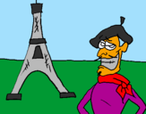 Coloring page France painted bykelan