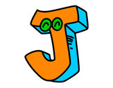 Coloring page Letter J painted bydolon
