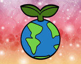 Coloring page Clean earth painted bybella