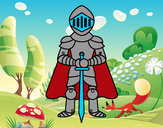 Coloring page Knight with cape painted by2233