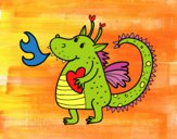 Coloring page Childish dragon painted bybarbie_kil